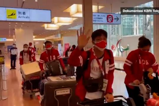Kloter dua dan tiga atlet Paralimpiade tiba di Tokyo