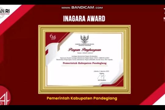 Pemkab Pandeglang raih penghargaan INAGARA dari LAN RI