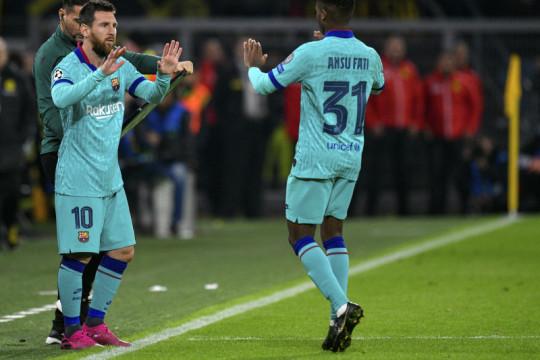 Ansu Fati warisi nomor punggung peninggalan Lionel Messi di Barcelona