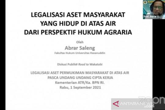 Pakar: Legalisasi aset masyarakat hidup di atas air butuh ketelitian
