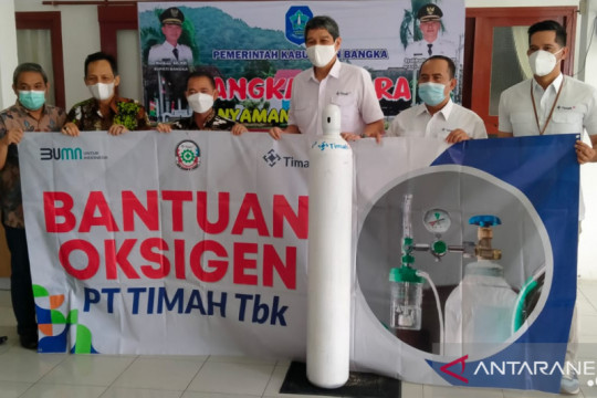 PT Timah Tbk salurkan 200 tabung oksigen ke RS Depati Bahrin