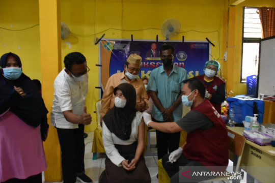 Warga yang divaksinasi COVID-19 di Gorontalo Utara naik signifikan