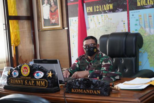 Komandan Korem 121/ABW sampaikan duka cita gugurnya prajurit di Papua