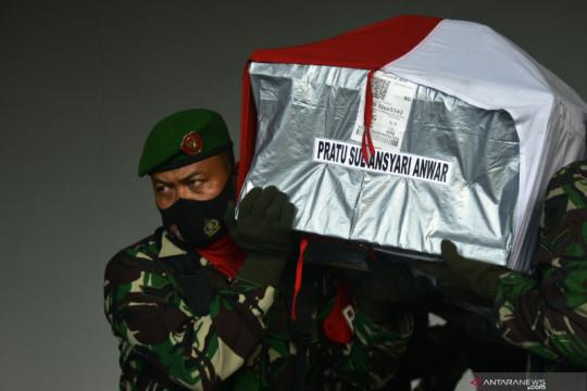 Jenazah prajurit TNI korban penyerangan di Papua Barat
