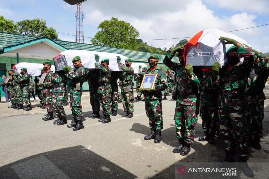 Pelepasan jenazah anggota TNI korban kelompok separatis di Papua Barat