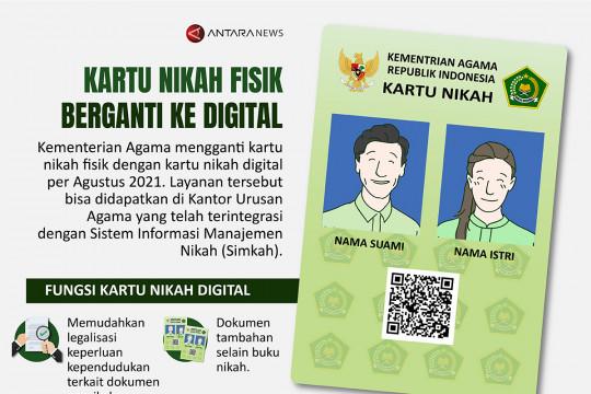 Kartu nikah fisik berganti ke digital