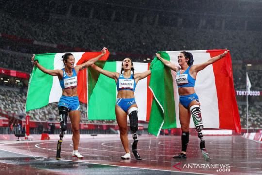 Paralimpiade: Atlet Italia sapu bersih medali lomba lari 100m T63 Final