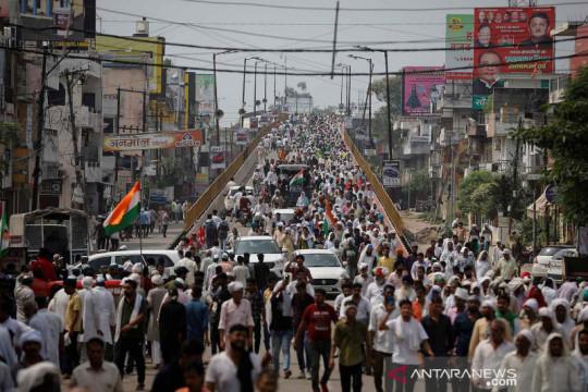 Petani India protes UU pertanian