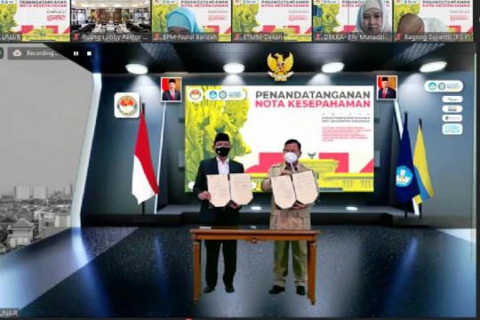 Menhan Prabowo menandatangani kerja sama dengan Unair