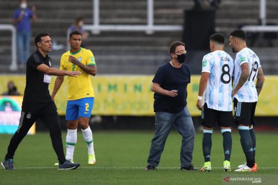 Laga Brazil vs Argentina dihentikan otoritas kesehatan