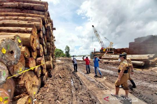 Pemprov Kalteng menyegel ribuan kayu log diduga ilegal