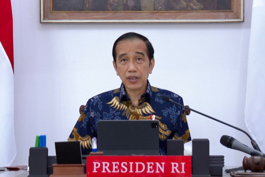 Presiden Jokowi sampaikan sejumlah arahan terkait evaluasi PPKM
