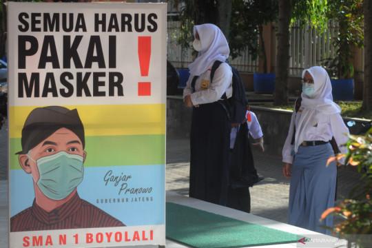 Pembelajaran tatap muka terbatas di Kabupaten Bandung dan Boyolali