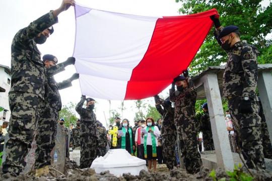 KKP laksanakan upacara pemakaman Gabrial Tjung di Pontianak