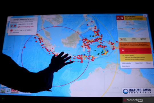 Sistem peringatan informasi bencana di kawasan wisata