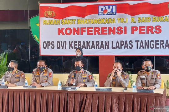 RS Polri buka pos ante mortem musibah kebakaran Lapas Tangerang