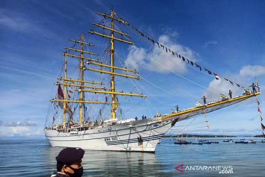KRI Bima Suci tiba di Pelabuhan Morotai
