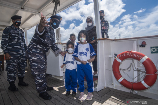 Open Ship KRI Bima Suci di Morotai