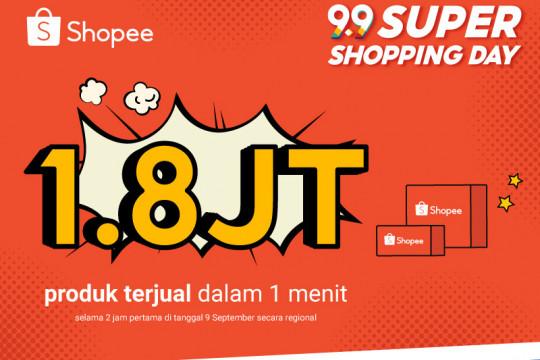 Shopee 9.9 Super Shopping Day jual 1,8 juta produk dalam 1 menit