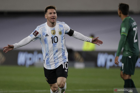 Tiga gol Lionel Messi bantu Argentina tekuk Bolivia 3-0
