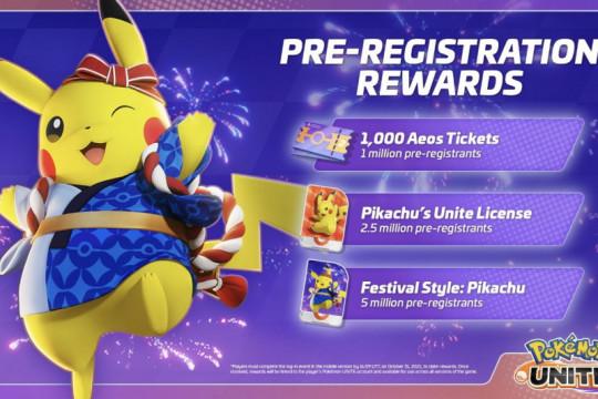 Pokemon Unite buka pra-registrasi