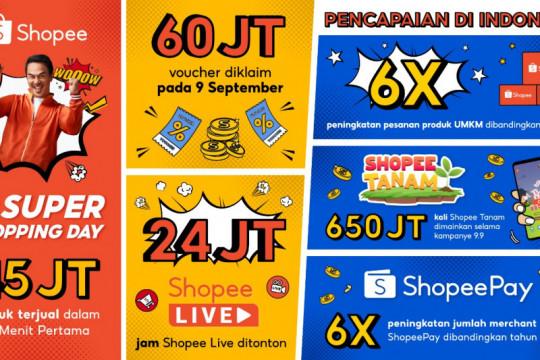 Pesanan UMKM naik enam kali lipat dalam Shopee 9.9 Super Shopping Day