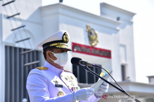 Korps Marinir gelar upacara peringatan HUT Ke-76 TNI AL