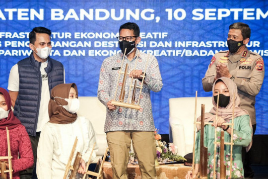 Menparekraf sebut dukung penguatan sektor ekraf di Kabupaten Bandung