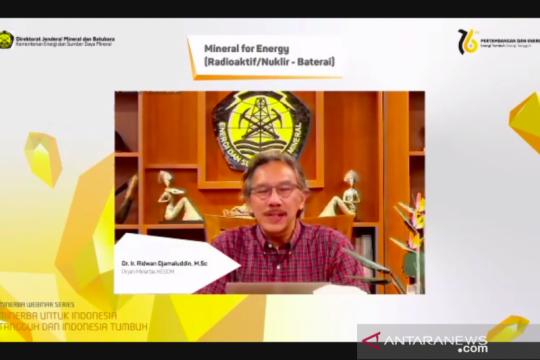 Dirjen Minerba: Nuklir menjadi opsi energi potensial bagi Indonesia