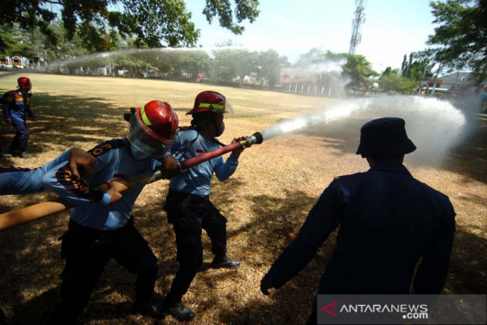 Latihan pemadaman api di Lapas Kelas II B Brebes