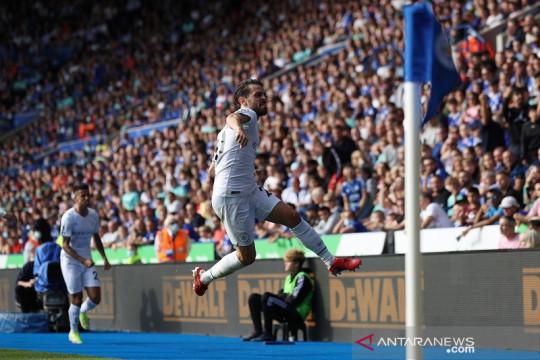 Bernardo Silva antar Manchester City tundukkan Leicester