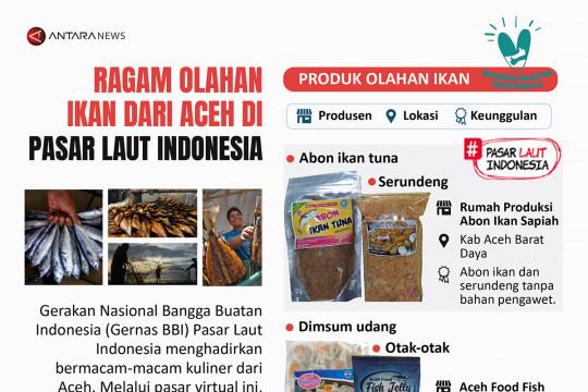 Ragam olahan ikan dari Aceh di Pasar Laut Indonesia