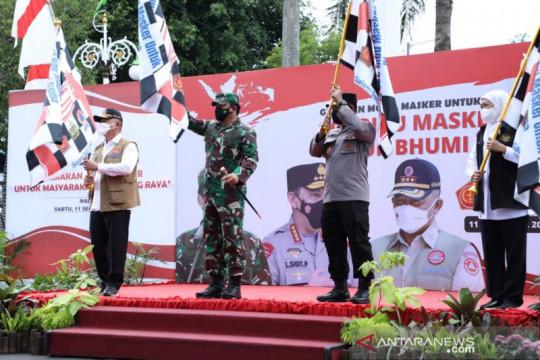 Panglima ingatkan warga Malang selalu pakai masker demi cegah COVID-19