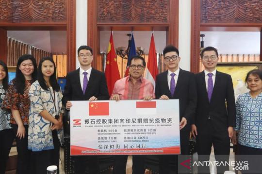 Perusahaan China donasikan alat penanggulangan COVID-19 ke Indonesia