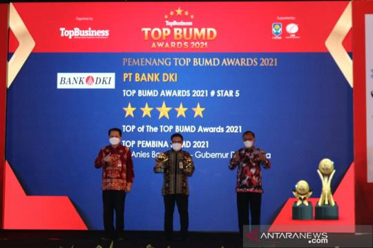 """Bank DKI kembali raih """"Top of the Top"""" di ajang Top BUMD Awards 2021"""