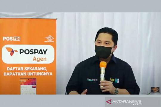 Erick Thohir: Aset PT Pos bisa dijadikan pusat distribusi e-commerce
