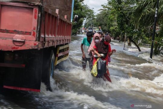 Dampak banjir luapan Sungai Katingan
