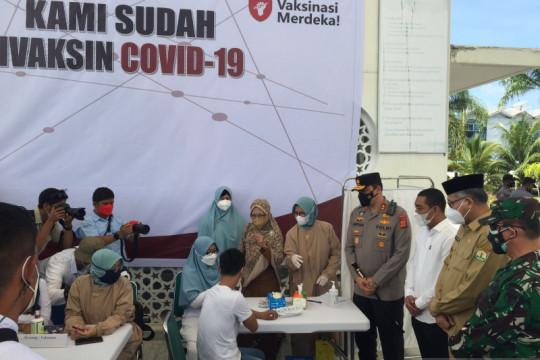 Sinergi pemerintah, TNI/Polri wujudkan kekebalan kelompok di Aceh