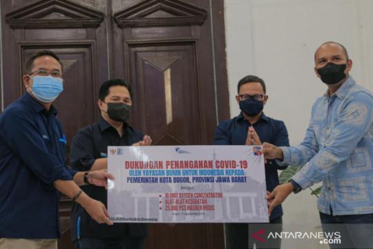 Menteri BUMN bantu alat kesehatan untuk puskesmas di Kota Bogor