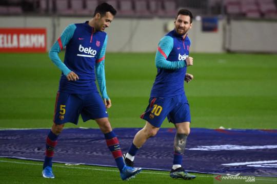 Busquets yakin Barca masih bisa juara Liga Champions tanpa Leo Messi
