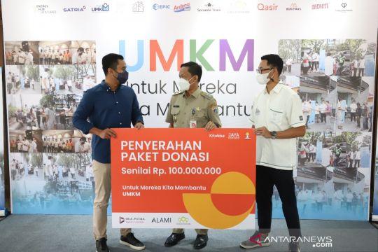 HIPMI Jaya salurkan bantuan bagi pelaku UMKM di Jakarta Selatan