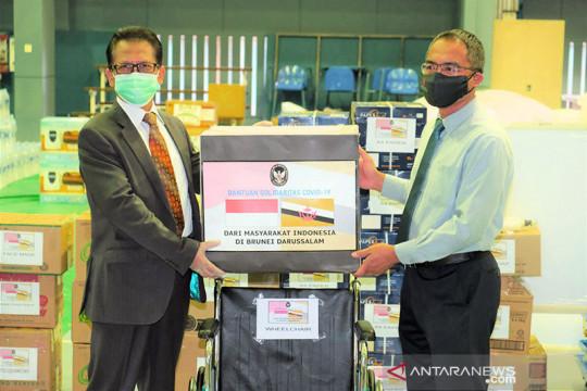 Komunitas Indonesia kembali salurkan bantuan COVID untuk Brunei