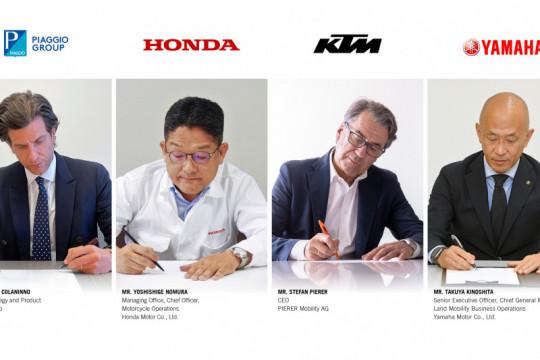 Honda, Yamaha, KTM hingga Piaggio teken konsorsium pertukaran baterai