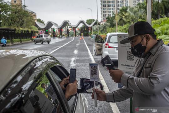 Uji coba aplikasi pedulilindungi di tempat wisata