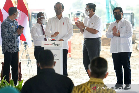 Presiden Jokowi ingin RI keluar dari jebakan pengekspor bahan mentah