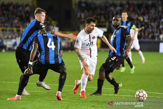 Liga Champions: PSG bermain imbang 1-1 lawan Club Brugge