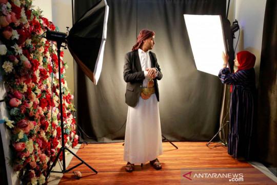 Potret profesi fotografer perempuan di Yaman