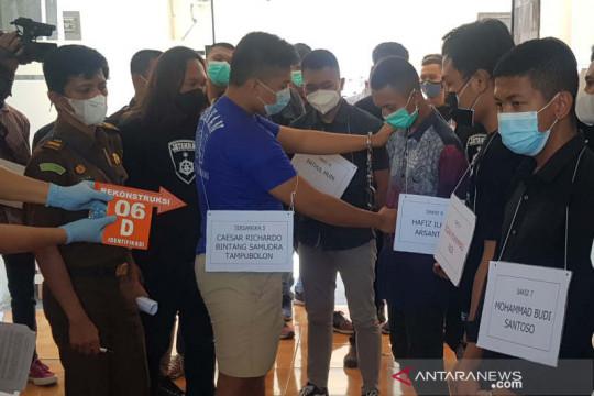 Lima taruna PIP Semarang peragakan ulang adegan tewaskan juniornya