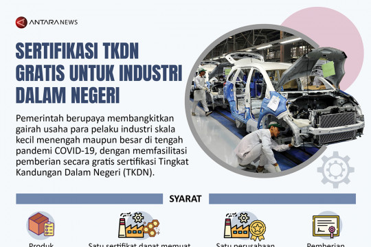 Sertifikasi TKDN gratis untuk industri dalam negeri
