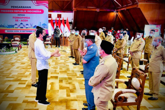Presiden ingatkan Forkopimda Aceh pentingnya pengendalian COVID-19